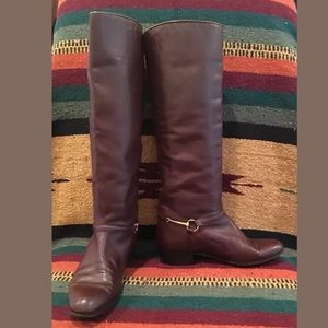 GUCCI Brown Equestrian Horse Bit Riding Boot Italy